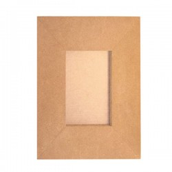 PORTAFOTO IN MDF DA DECORARE SUPPORTO 27.4X32.5 CM
