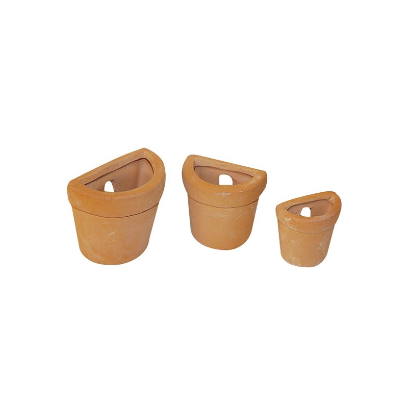 Ktr16 6 mezzi vasi in 3 misure in terracotta - Decorare vasi terracotta ...
