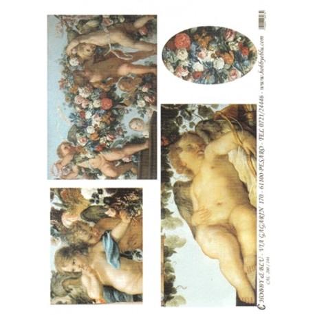CARTA PER DECOUPAGE CARTA DI RISO 31X42 CAL200/144