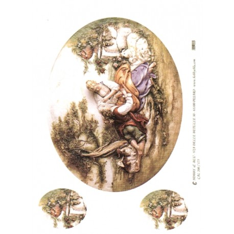 CARTA PER DECOUPAGE CARTA DI RISO 31X42 CAL200/175