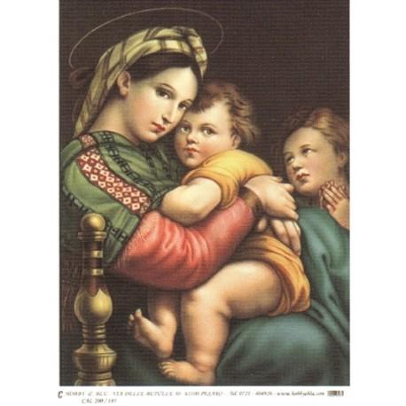 CARTA PER DECOUPAGE CARTA DI RISO 31X42 CAL200/185