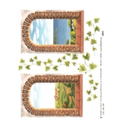 CARTA PER DECOUPAGE CARTA DI RISO 31X42 CAL200/188