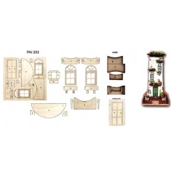 KIT PER TEGOLA DECOUPAGE PORTONE FINESTRA SCALA