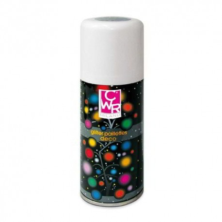 GLITTER SPRAY 150 ML ARGENTO