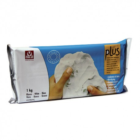 PLUS PASTA MODELLABILE 1KG BIANCO SPORCO TIPO DAS