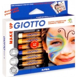 GIOTTO MAKE-UP SET  MATITE 6 COLORI PER TRUCCARE CORPO