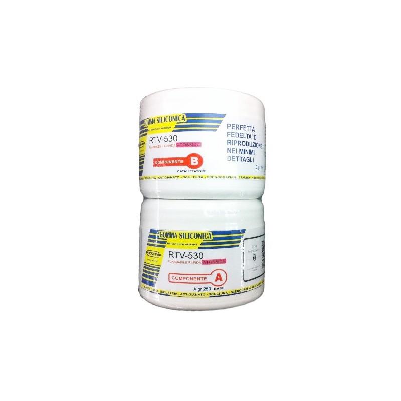 gomma siliconica plasmabile rtv 530 500gr prochima