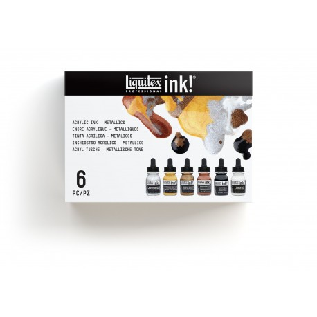 LIQUITEX SET 6 INK COLORI METALLICI