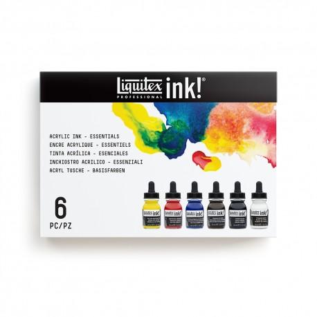 LIQUITEX SET 6 INK COLORI ESSENZIALI