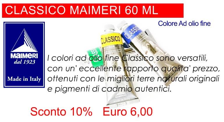 OFFERTA PREZZO COLORE AD OLIO FINE CLASSICO MAIMERI 60 ML