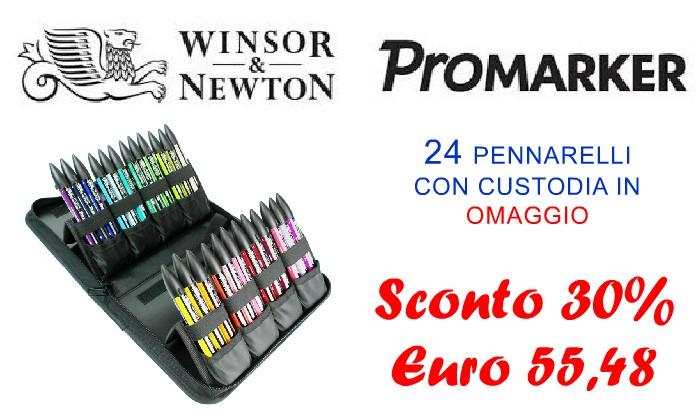PROMARKER 24 PENNARELLI PANTONE WINSOR E NEWTON OFFERTA PREZZO NETTO